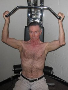 Tom, working out